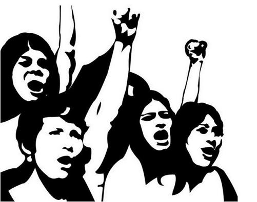 ilustração mulheres em marcha